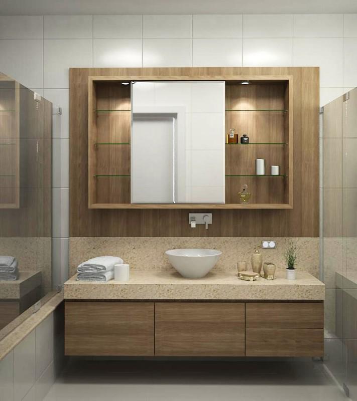 Banheiro Planejado  Atrativa Móveis Planejados # Armario Para Banheiro Center Castilho